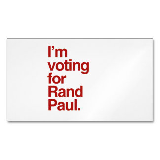I'm voting for Rand Paul 2016 Magnetic Business Cards (Pack Of 25)