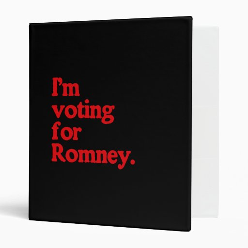 I'M VOTING FOR ROMNEY BINDERS