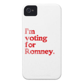 I'M VOTING FOR ROMNEY Case-Mate iPhone 4 CASES