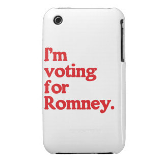 I'M VOTING FOR ROMNEY iPhone 3 Case-Mate CASES