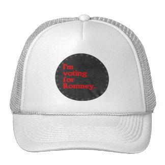 I'M VOTING FOR ROMNEY TRUCKER HAT