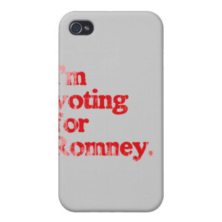 I'M VOTING FOR ROMNEY iPhone 4 COVERS