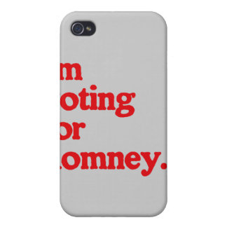 I'M VOTING FOR ROMNEY iPhone 4 COVER