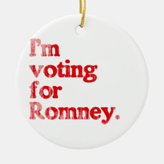 I'M VOTING FOR ROMNEY.png Double-Sided Ceramic Round Christmas Ornament