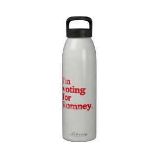 I'M VOTING FOR ROMNEY REUSABLE WATER BOTTLE