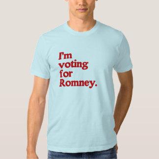 I'M VOTING FOR ROMNEY TEE SHIRT