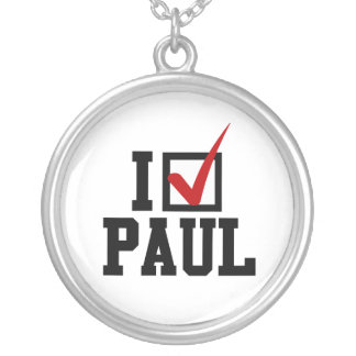 I'M VOTING FOR RON PAUL ROUND PENDANT NECKLACE