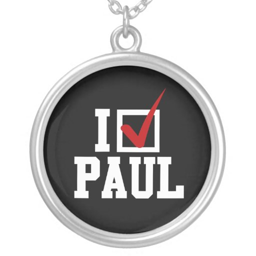 I'M VOTING FOR RON PAUL (white) Necklaces