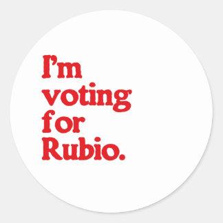 I'M VOTING FOR RUBIO CLASSIC ROUND STICKER