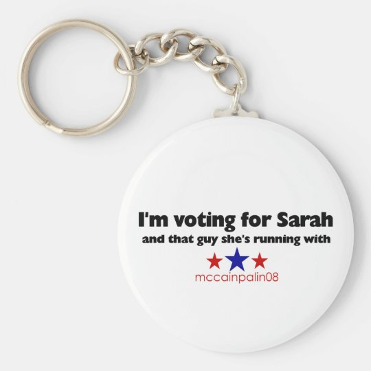 I'm Voting for Sarah Keychain