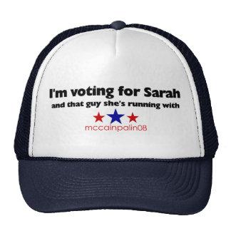 I'm Voting for Sarah Trucker Hat