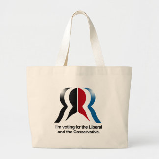 I'm voting for the Liberal and the Conservative Canvas Bag