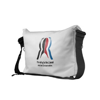 I'm voting for the Liberal and the Conservative Courier Bags