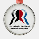 I'm voting for the Liberal and the Conservative Ornaments