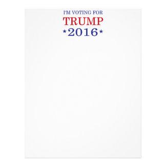 I'm Voting for Trump 2016 Letterhead