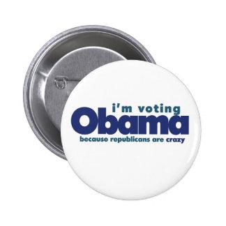 I'm voting OBAMA 2 Inch Round Button