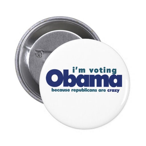 I'm voting OBAMA Buttons