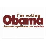I'm voting OBAMA Post Card