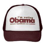 I'm voting OBAMA Trucker Hat