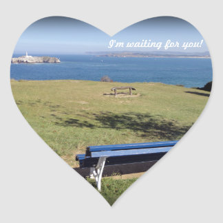 I'm waiting for you! heart sticker