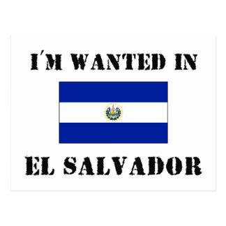 I'm Wanted In El Salvador Postcard