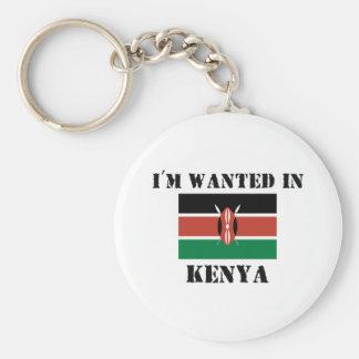 I'm Wanted In Kenya Basic Round Button Keychain