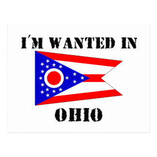 I'm Wanted In Ohio Postcard