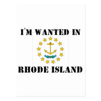 I'm Wanted In Rhode Island Postcard