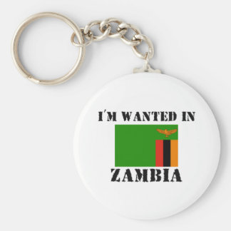 I'm Wanted In Zambia Keychain