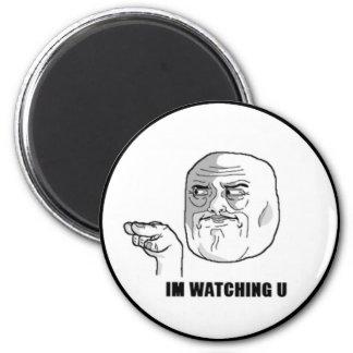 I'm Watching U Comic Face. 2 Inch Round Magnet