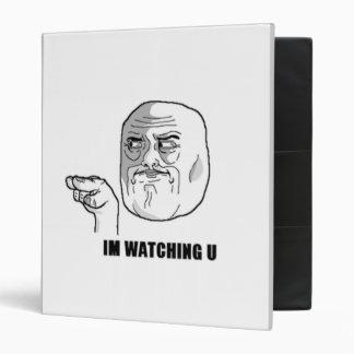 I'm Watching U Comic Face. 3 Ring Binder