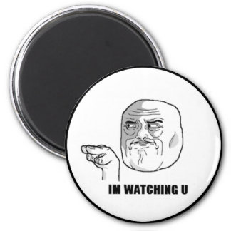 I'm Watching U Comic Face. Refrigerator Magnets