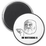 I'm Watching U Comic Face. Refrigerator Magnets