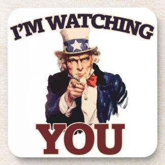 I'm watching YOU Beverage Coaster