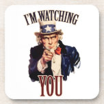 I'm watching YOU Drink Coasters