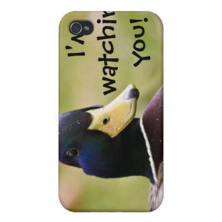 I'm Watching You Funny Duck i iPhone 4/4S Cases