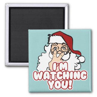 I'm Watching You Funny Santa Claus Fridge Magnet