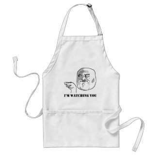 I'm watching you - meme adult apron