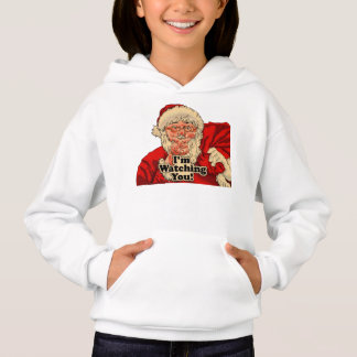 Im watching you-santa claus illustration hoodie