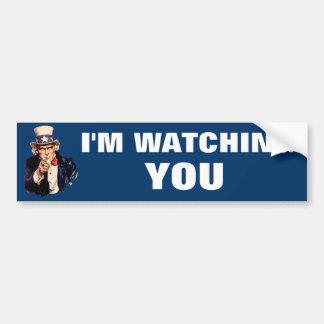 I'M Watching you Uncle Sam Bumper Sticker