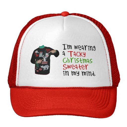 Ugly Christmas Hats and Ugly Christmas Trucker Hat Designs
