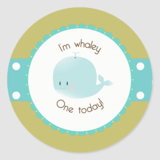 I'm Whaley One Today Cupcake Topper/Sticker Classic Round Sticker