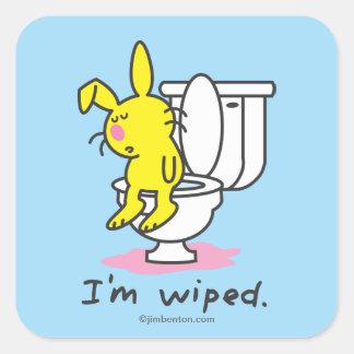 I'm Wiped Square Sticker