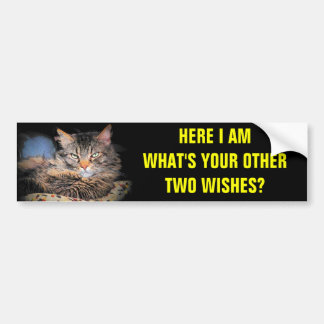 I'm Wish Number One Kitty Bumper Sticker