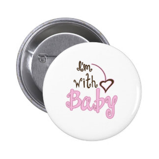I'm with Baby 2 Inch Round Button