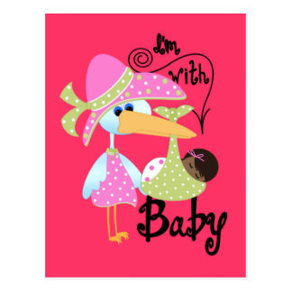 I'm With Baby Post Card