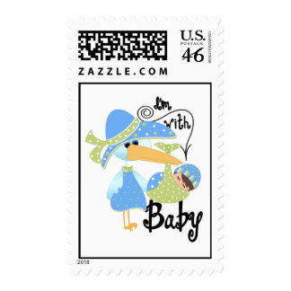 I'm With Baby Postage Stamp