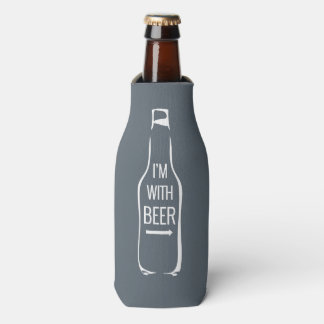 I'm With Beer Bottle Cooler