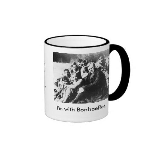 I'm with Bonhoeffer Ringer Coffee Mug