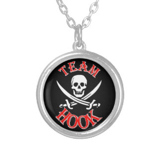 I'm with Captain Hook Silver Plated Necklace